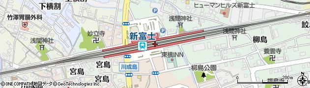 静岡県富士市周辺の地図
