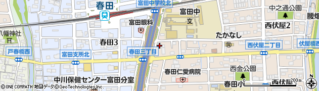 富田忠魂社周辺の地図