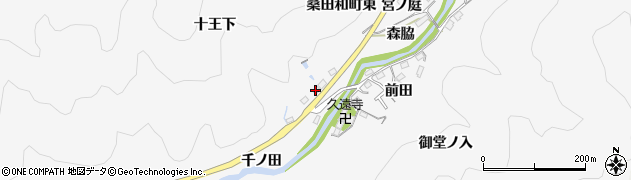 愛知県豊田市桑田和町(東)周辺の地図