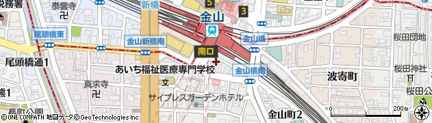 甘太郎金山店周辺の地図