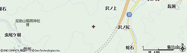 愛知県豊田市足助町(城山)周辺の地図