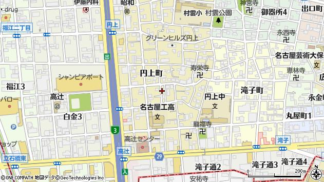 〒466-0054 愛知県名古屋市昭和区円上町の地図