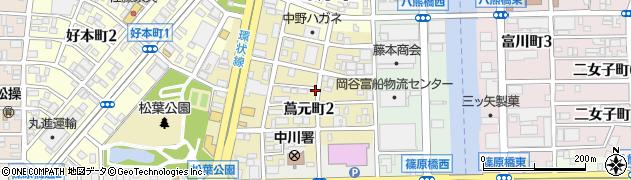 愛知県名古屋市中川区蔦元町周辺の地図