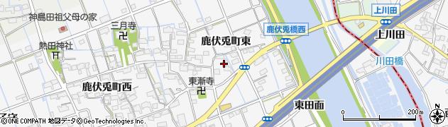 愛知県津島市鹿伏兎町(東)周辺の地図