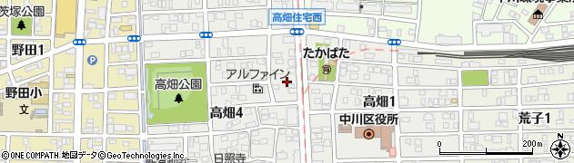 東屋周辺の地図