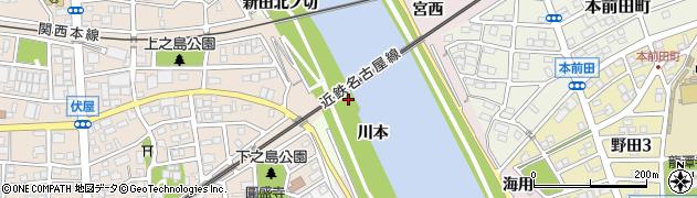 愛知県名古屋市中川区富田町大字伏屋(新田中ノ切)周辺の地図
