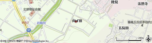 愛知県日進市岩崎町(向イ田)周辺の地図