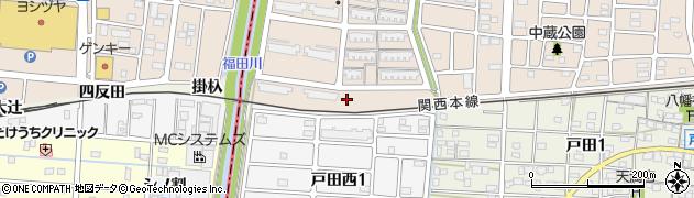 愛知県名古屋市中川区富田町大字戸田(中南高上)周辺の地図