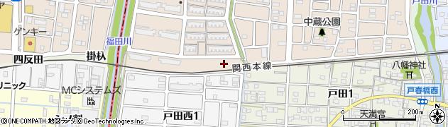 愛知県名古屋市中川区富田町大字戸田(東南高上)周辺の地図