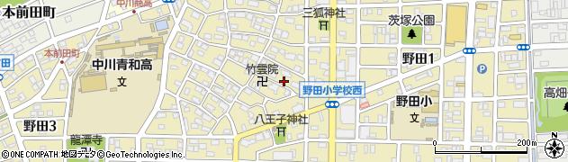 愛知県名古屋市中川区野田周辺の地図