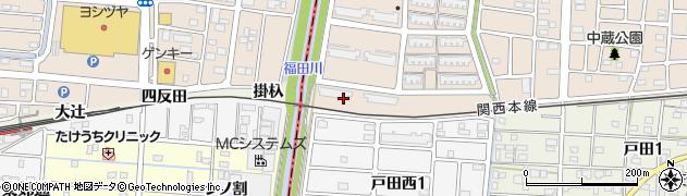 愛知県名古屋市中川区富田町大字戸田(西南高上)周辺の地図
