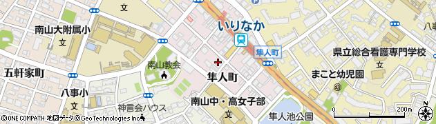 愛知県名古屋市昭和区隼人町周辺の地図