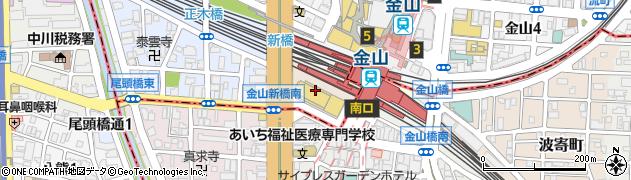 愛知県名古屋市中区金山町周辺の地図