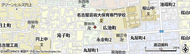 愛知県名古屋市昭和区永金町周辺の地図