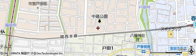 愛知県名古屋市中川区富田町大字戸田(中蔵)周辺の地図