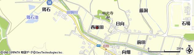 愛知県豊田市田籾町(西皿田)周辺の地図