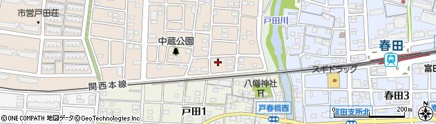 愛知県名古屋市中川区富田町大字戸田(東蔵)周辺の地図