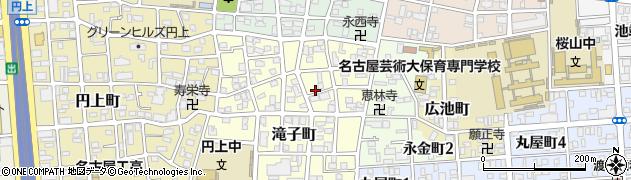 愛知県名古屋市昭和区滝子町周辺の地図