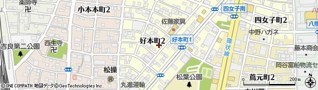 愛知県名古屋市中川区好本町周辺の地図