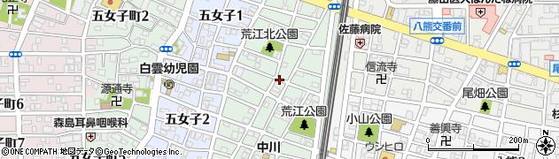 愛知県名古屋市中川区荒江町周辺の地図