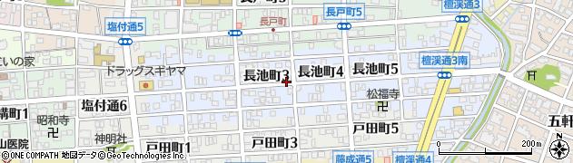 愛知県名古屋市昭和区長池町周辺の地図