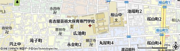 愛知県名古屋市昭和区広池町周辺の地図