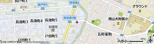 愛知県名古屋市昭和区檀溪通周辺の地図