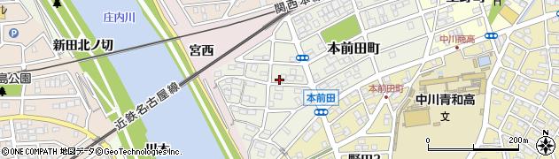 愛知県名古屋市中川区本前田町周辺の地図
