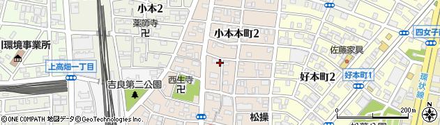 愛知県名古屋市中川区小本本町周辺の地図