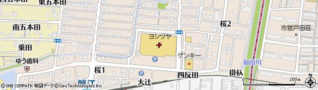 米乃家 JR蟹江駅前店周辺の地図