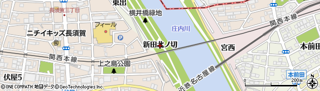 愛知県名古屋市中川区富田町大字伏屋(新田北ノ切)周辺の地図