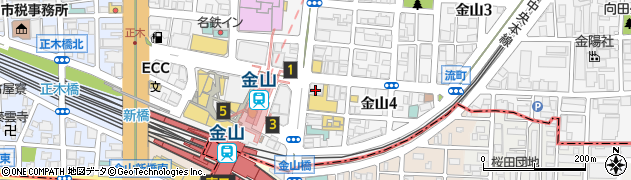 和民金山店周辺の地図