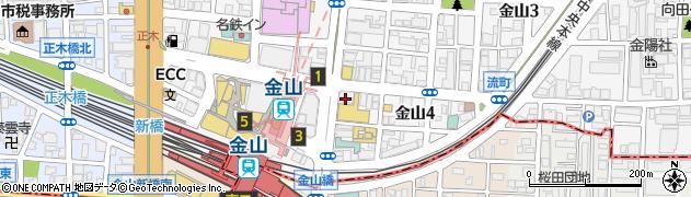 カーヴ隠れや金山店周辺の地図