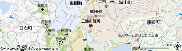 神奈川県三浦市周辺の地図