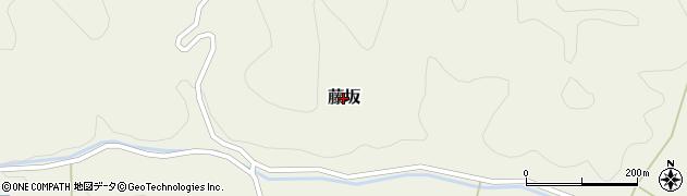 兵庫県丹波篠山市藤坂周辺の地図