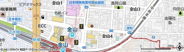 藤一番らーめん金山店周辺の地図