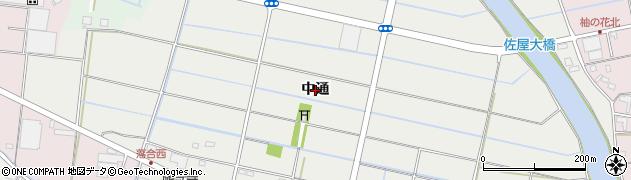 愛知県愛西市落合町(中通)周辺の地図