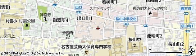愛知県名古屋市昭和区出口町周辺の地図