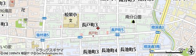 愛知県名古屋市昭和区長戸町周辺の地図