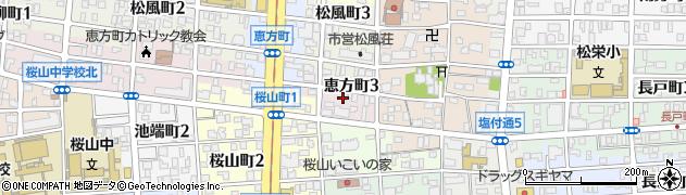 愛知県名古屋市昭和区恵方町周辺の地図