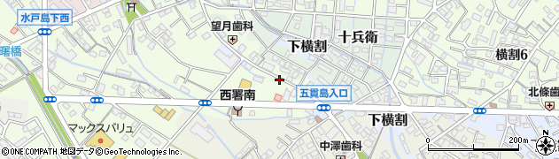 静岡県富士市水戸島周辺の地図