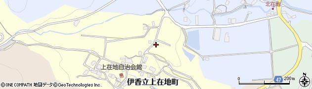 滋賀県大津市伊香立上在地町周辺の地図