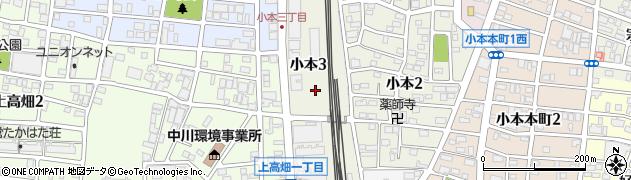 愛知県名古屋市中川区小本町周辺の地図