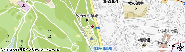 愛知県名古屋市名東区猪高町大字高針(梅森坂)周辺の地図