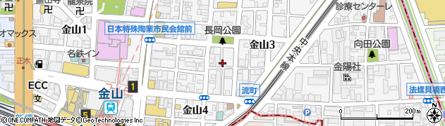 愛知県名古屋市中区金山周辺の地図