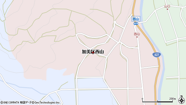 〒679-1326 兵庫県多可郡多可町加美区西山の地図