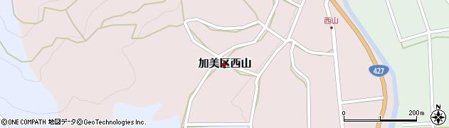 兵庫県多可町(多可郡)加美区西山周辺の地図
