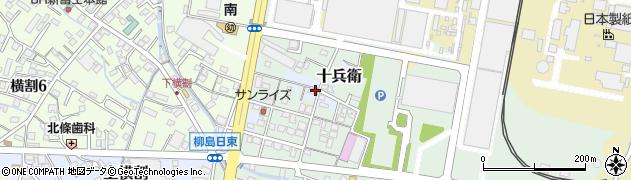 静岡県富士市下横割周辺の地図