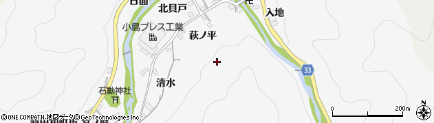 愛知県豊田市桑田和町周辺の地図
