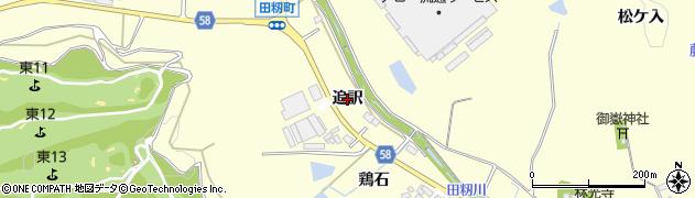 愛知県豊田市田籾町(追訳)周辺の地図